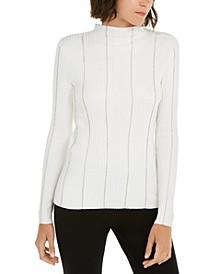 I.N.C. Embellished-Stripe Sweater, Created For Macy's