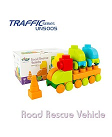 37 Piece Set To Build A Huge Road Rescue Vehicle and 2 Cars