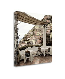 "Positano Caffe - 1 by Alan Blaustein Fine Art Giclee Print on Gallery Wrap Canvas, 30"" x 30"""