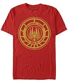 Battlestar Galactica Men's Colonial Fleet Emblem Short Sleeve T-Shirt