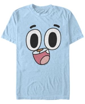 Cartoon Network Men's Gumball Big Face Costume Short Sleeve T-Shirt Short Sleeve T-Shirt
