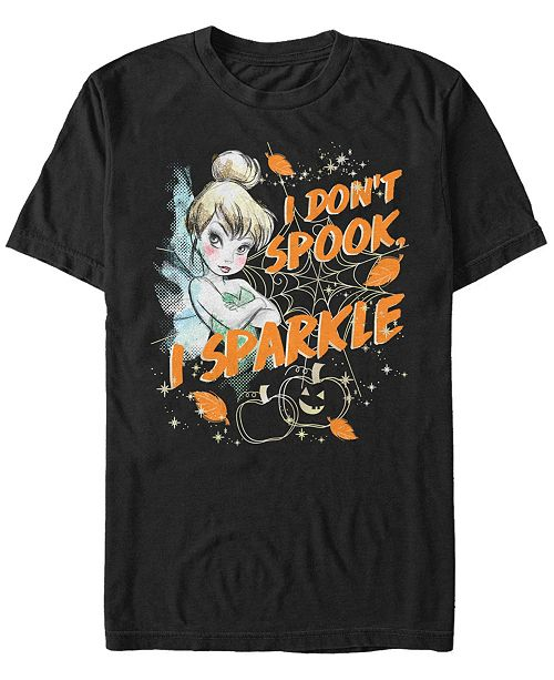 Fifth Sun Disney Men's Peter Pan Tinker Bell Spook and Sparkle Short Sleeve T-Shirt
