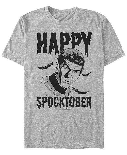 Fifth Sun Star Trek Men's Spock Happy Spocktober Halloween Short Sleeve T-Shirt