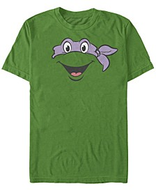 Nickelodeon Teenage Mutant Ninja Turtles Donatello Big Face Short Sleeve T-Shirt