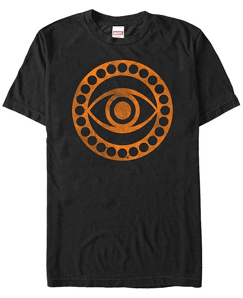 Fifth Sun Marvel Men's Dr Strange Distressed Orange Eye Logo Short Sleeve T-Shirt