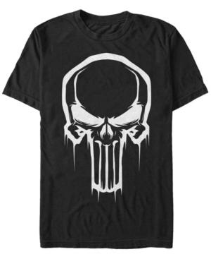Marvel Men's Punisher Dripping Skull Logo Costume Short Sleeve T-Shirt