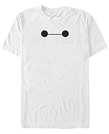 Disney Men's Big Hero 6 Baymax Big Face Costume Short Sleeve T-Shirt Short Sleeve T-Shirt