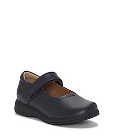 First Semester by Big Girl and Little Girl One Strap Mary Jane School Uniform Shoe