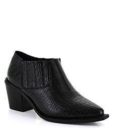 Women's Casanova Low Bootie Croc-Embossed