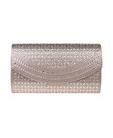 Edwardian Crystal Lattice Flap Clutch - Large