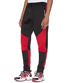 Men's Colorblocked Drawstring Jogger Pants