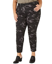 Plus Size Cotton Camouflage Jeans Created For Macy's