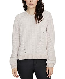 Textured Knit Chenille Sweater