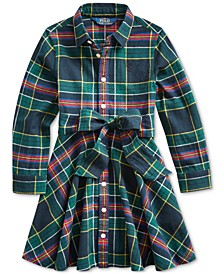 Toddler Girl's Plaid Cotton Shirtdress