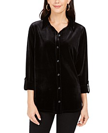 Button-Down Velvet Shirt, Created For Macy's