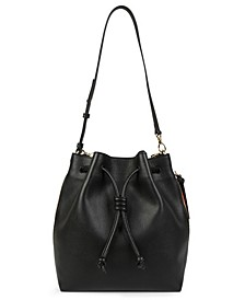 Notting Hill Leather Convertible Bucket Bag