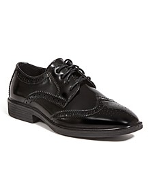 Little and Big Boys Taro Jr. Stylish Lightweight Dress Comfort Classic Wingtip Oxford Shoes