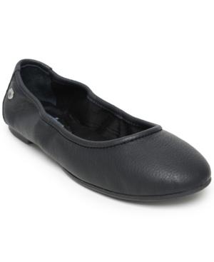 Minnetonka Anna Ballerina Flat Women's Shoes In Black