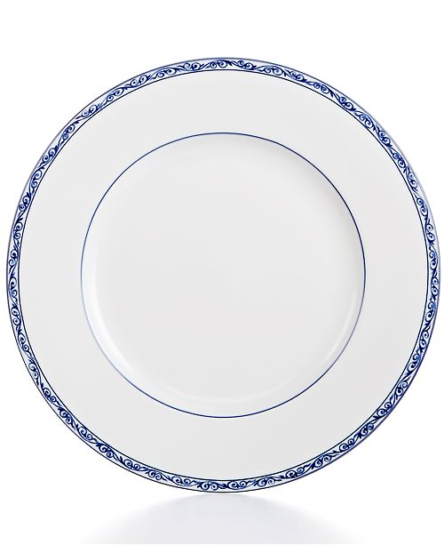 Lauren Ralph Dinnerware Mandarin Blue Dinner Plate