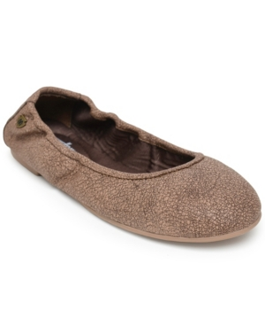 Minnetonka Anna Ballerina Flat Women's Shoes In Chocolate