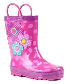 Toddler, Little Girl's and Big Girl's Printed Rubber Rain Boots