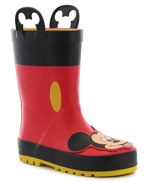 Western Chief Little Kid's and Big Kid's Mickey Mouse Rain Boot
