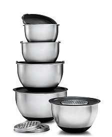 Mixing Bowls with Lids and 3 Kind of Graters, Set of 5