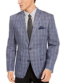 Men's Slim-Fit Plaid Sport Coat, Created For Macy's