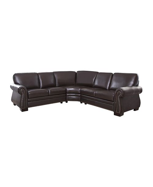 Abbyson Living Plams Leather Sectional