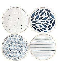 Lenox Blue Bay Set/4  Assorted Dessert Plates