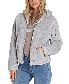 Reine Down Polar-Fleece Hooded Jacket