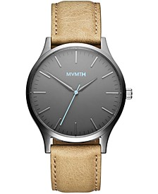 Men's 40 Series Sandstone Leather Strap Watch 40mm