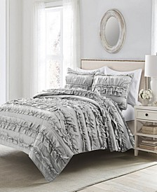 Belle Ruffle 3-Piece Full/Queen Quilt Set