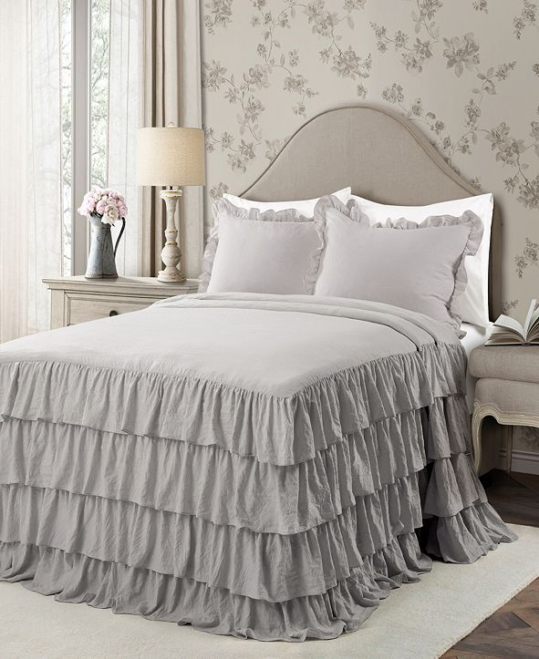 Lush Decor Allison Ruffle 3-Piece King Bedspread Set