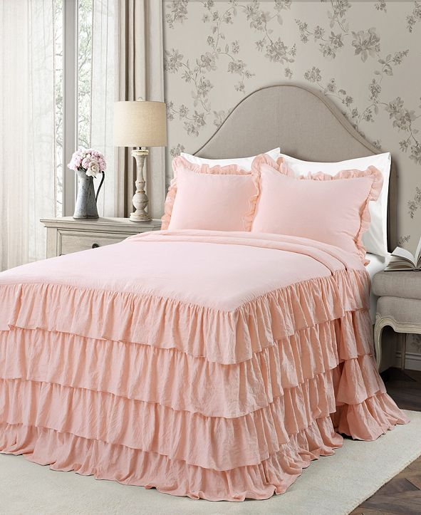 Lush Decor Allison Ruffle 3-Piece Full Bedspread Set