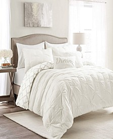 Ravello Pintuck Geo Reversible 7-Piece Full/Queen Comforter Set