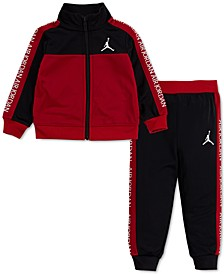 Baby Boys 2-Pc. Colorblocked Tricot Jacket & Jogger Pants Track Set
