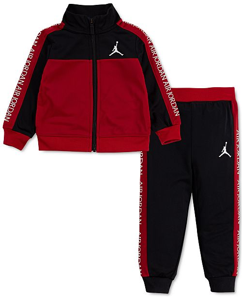 Jordan Baby Boys 2-Pc. Colorblocked Tricot Jacket & Jogger Pants Track Set