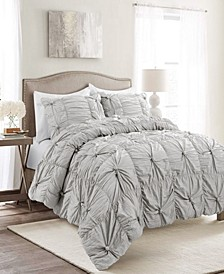 Bella Ruched 3-Piece Comforter Sets