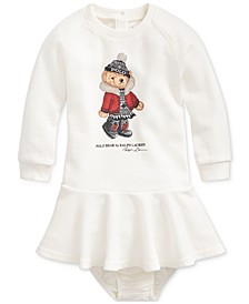 Baby Girls Winter Bear Dress & Bloomer