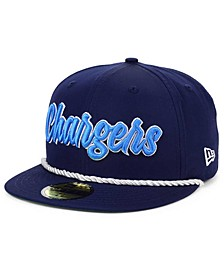 Little Boys Los Angeles Chargers On-Field Sideline Home 59FIFTY Fitted Cap