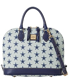 Dallas Cowboys Saffiano Zip Satchel