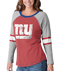 Women's New York Giants Long Sleeve Top Pick T-Shirt