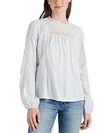 Cotton Lace-Contrast Top