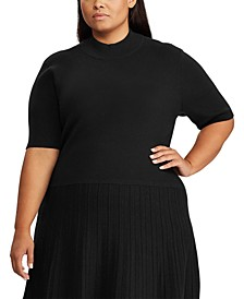 Plus Size Mockneck Dress