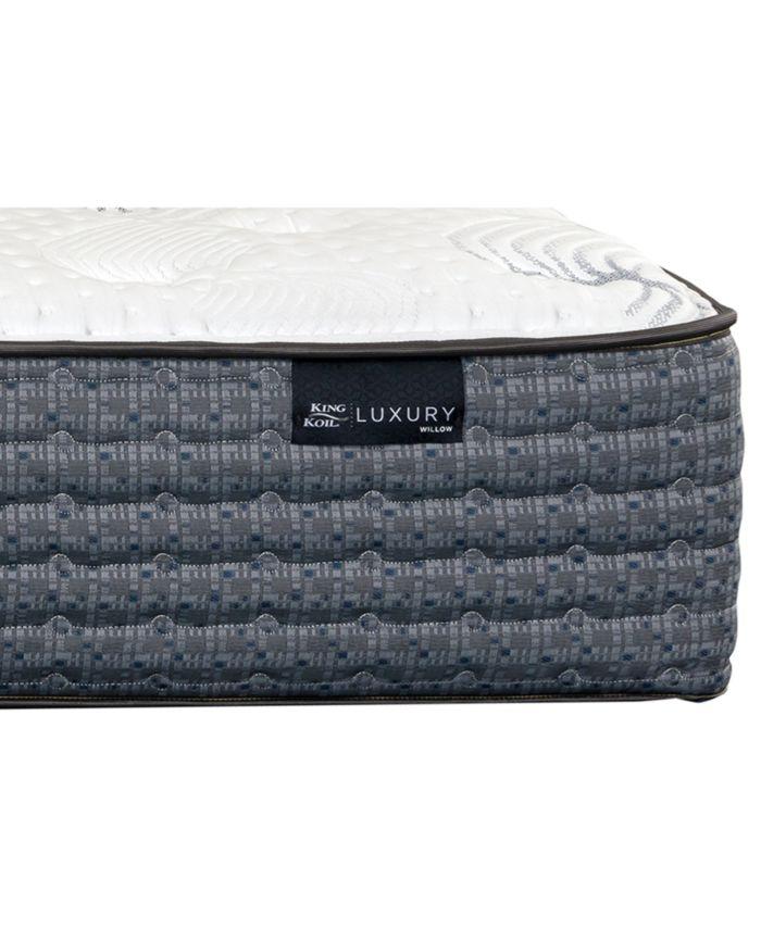 "King Koil Luxury Willow 13.5"" Cushion Firm Mattress- Twin & Reviews - Mattresses - Macy's"