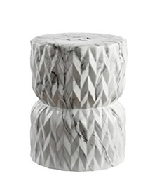 Chevron Drum Garden Stool, Quick Ship