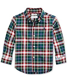 Baby Boys Plaid Cotton Poplin Shirt