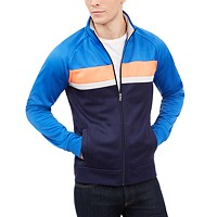 Deals on Club Room Mens Chevron Track Jacket