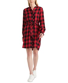 Mackenzie Ruffled Shirtdress